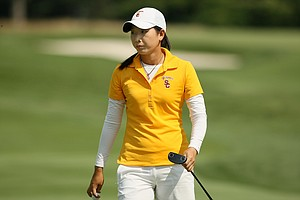 Doris Chen at the 2014 U. S. Women's Amateur at Nassau Country Club in Glen Cove, N. Y. Chen withdrew after 9-holes.