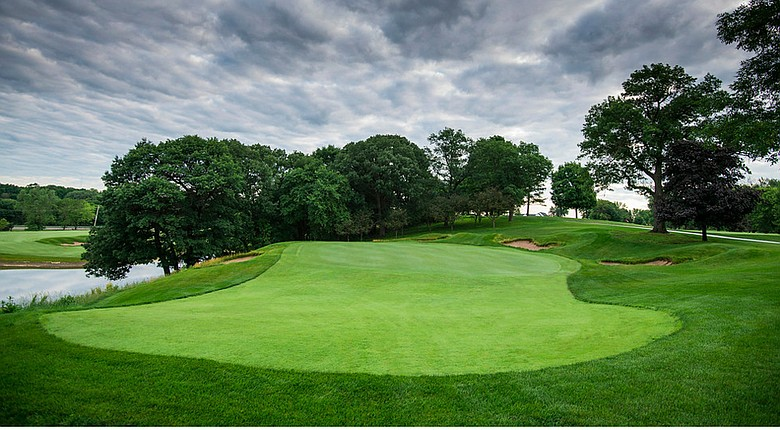 The 13th hole at Keller Golf Course in Maplewood, Minn., after 2014 renovations.