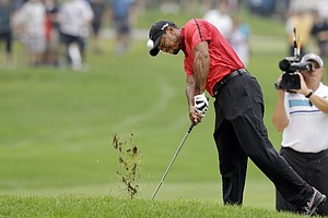 Tiger Woods' injury suffered on this swing Sunday has his PGA Championship and Ryder Cup status up in the air..