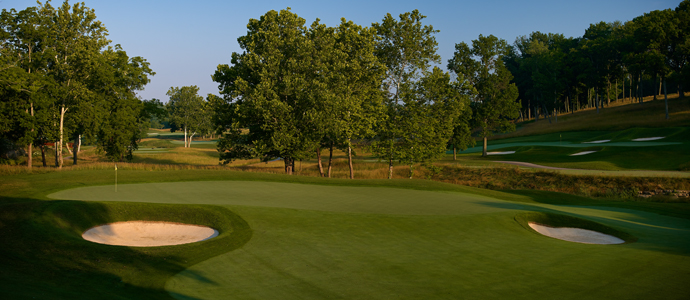 The 16th hole at Valhalla, 2014 PGA Championship host.
