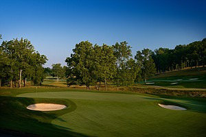 Hole No. 16,  Par 4, 508 yards: This starts the run of playoff holes from the 2000 PGA when Tiger Woods and Bob May staged their epic showdown. It was here at the 16th green that Tiger did his finger-pointing moon walk of a 20-foot birdie putt – an image that will be oft-repeated this week, and rightly so. This shapely dogleg right plays very narrow thanks to trees looming right and a left-to-right sloping fairway. The green, rebuilt since Woods' famous birdie putt, is perched and runs off in all directions a la Pinehurst.