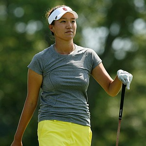 Annie Park walks up to No. 18 during the 2014 U. S. Women's Amateur at Nassau Country Club.