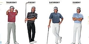 Watson's apparel for 2014 PGA Championship