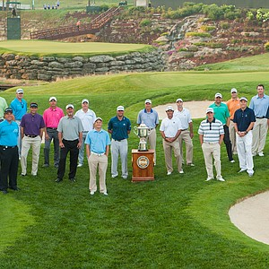 The 20 club pros in the 2014 PGA Championship gather Tuesday at Valhalla.