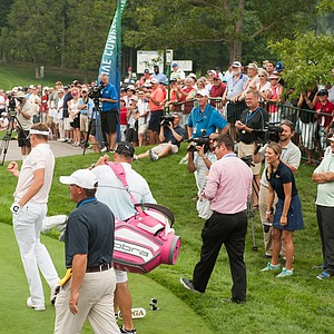 Ian Poulter on Tuesday at Valhalla before the 2014 PGA Championship.