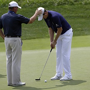 Justin Rose practices Tuesday at Valhalla before the 2014 PGA Championship.