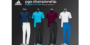 Garcia, Day's apparel for 2014 PGA Championship