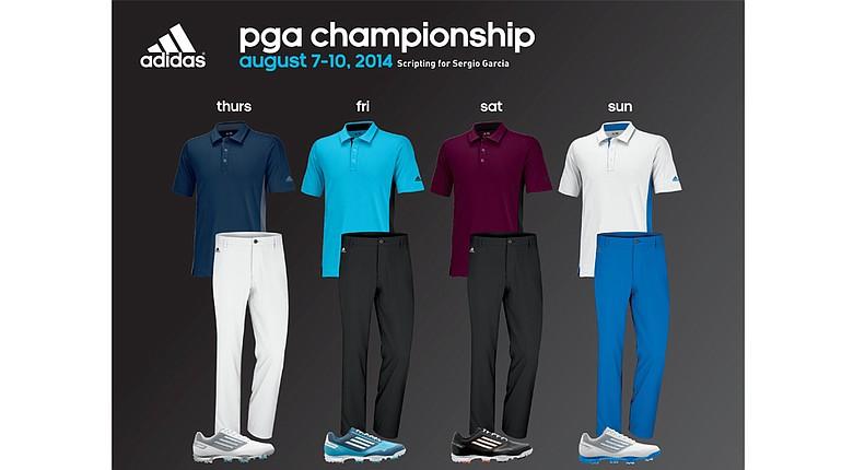 Sergio Garcia's apparel for 2014 PGA Championship.