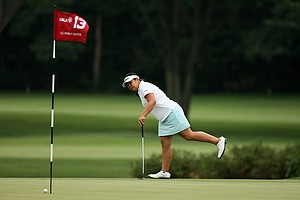 Bethany Wu, lost her match to Lakareber Abe, 6&4, in the round of 64 at the2014 U. S. Women's Amateur at Nassau Country Club.