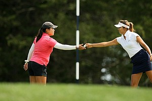 Alison Lee defeated August Kim 3&2 during the round of 64 match play at the 2014 U. S. Women's Amateur at Nassau Country Club.