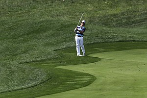 Brian Harman during a practice round Wednesday for the 2014 PGA Championship at Valhalla Golf Club in Louisville, Ky.
