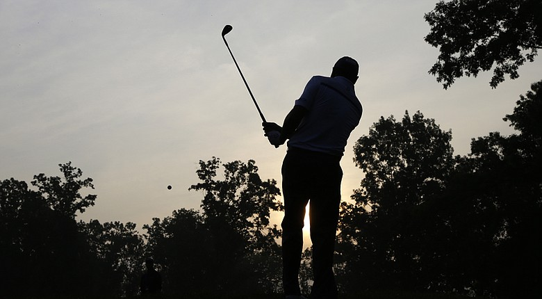 Johan Kok during a practice round early Wednesday morning at Valhalla for the PGA Championship.