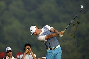 Rory McIlroy during a practice round Wednesday for the 2014 PGA Championship at Valhalla Golf Club in Louisville, Ky.