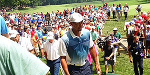 PHOTOS: Tiger Woods, PGA Championship (Wed.)