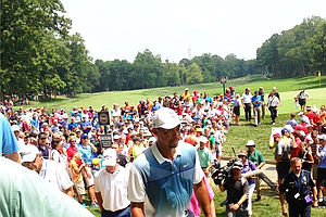 Tiger Woods during Wednesday's practice round of the 2014 PGA Championship at Valhalla.