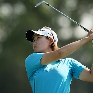 Eunjeong Seong during the 2014 U. S. Women's Amateur at Nassau Country Club. Seong defeated Elizabeth Doty to advance to the round of 32.