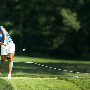 Grace Na during the 2014 U. S. Women's Amateur at Nassau Country Club. Na defeated the youngest player in the field, Karah Sanford, to advance.