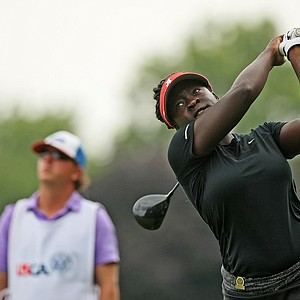 Lakareber Abe defeated Bethany Wu, 6&4, the stroke play medalist, during the Round of 64 at the 2014 U. S. Women's Amateur at Nassau Country Club.