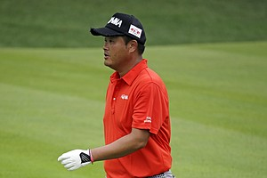 Koumei Oda walks on the fairway on the 15th hole during the third round of the PGA Championship at Valhalla.