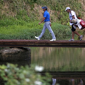 Rory McIlroy walks to the ninth tee during the third round of the PGA Championship at Valhalla.