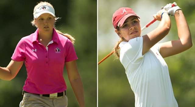 Brooke Mackenzie Henderson (left) and Kristen Gillman will meet in the championship match of the 2014 U.S. Women's Amateur on Sunday.