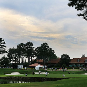 A view of No. 18 on the Highlands Course at the Atlanta Athletic Club during the 2014 U.S. Amateur.