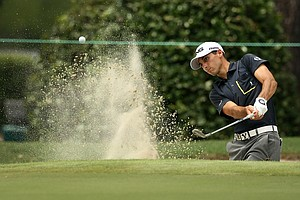 Joe Parkinson hits out of the bunker 2014 U.S. Amateur at the Atlanta Athletic Club.