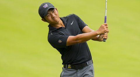 Cheng-Tsung Pan during the first round of the U.S. Amateur at Atlanta Athletic Club.