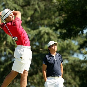Brandon McIver defeated Doug Ghim 2&1 during the round of 64 at the 2014 U.S. Amateur at the Atlanta Athletic Club.
