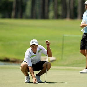 Cameron Young defeated Isaiah Logue during the round of 32 at the 2014 U.S. Amateur at the Atlanta Athletic Club.