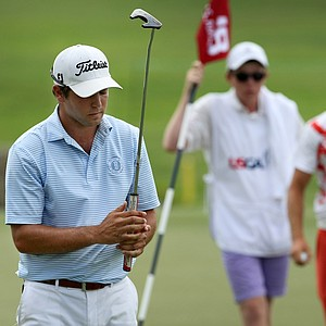 Jonathan Garrick lost to Eli Cole during the round of 32 at the 2014 U.S. Amateur at the Atlanta Athletic Club.