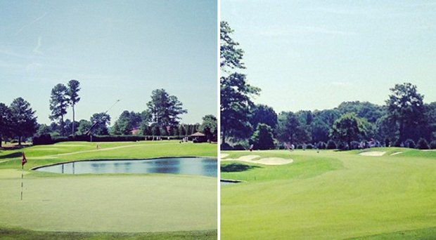 No. 7 (left) and No. 8 at Atlanta Athletic Club's Highland course for the 2014 U.S. Amateur.