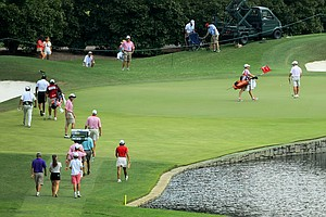 Hole No. 15 during the quarterfinals at the 2014 U.S. Amateur at the Atlanta Athletic Club.