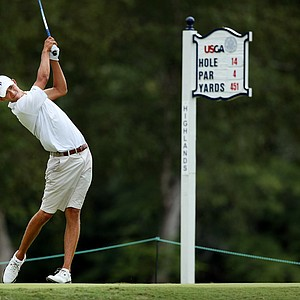Frederick Wedel defeated Nathan Smith, 4&3, during the quarterfinals at the 2014 U.S. Amateur at the Atlanta Athletic Club.