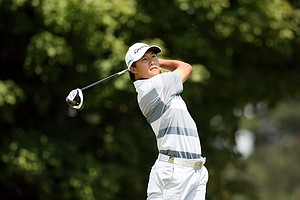 Gunn Yang during the quarterfinals at the 2014 U.S. Amateur at the Atlanta Athletic Club.