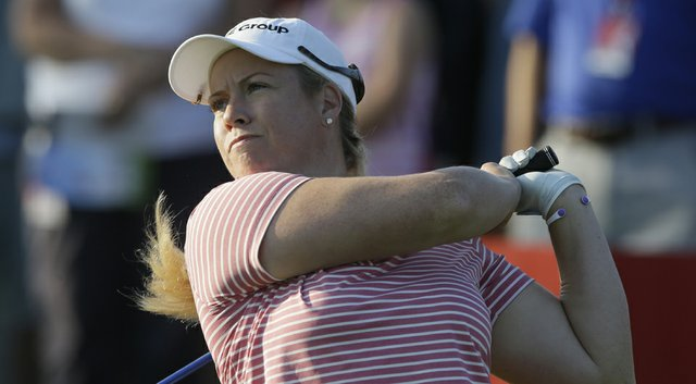 Brittany Lincicome is the 36-hole leader by three shots at the 2014 Wegmans LPGA Championship.