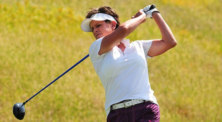 Rosie Jones during the first round of The Legends Championship at French Lick (Ind.) Resort.