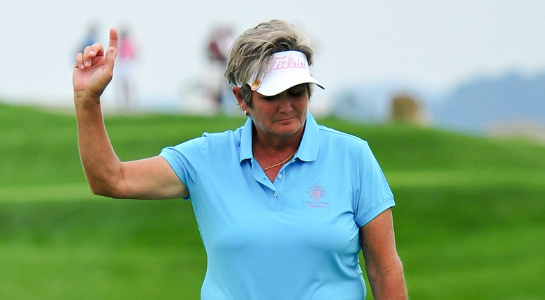 Laurie Rinker during the second round of The Legends Championship at French Lick (Ind.) Resort.