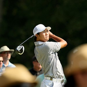 Gunn Yang of Korea during the finals at the 2014 U.S. Amateur at the Atlanta Athletic Club.