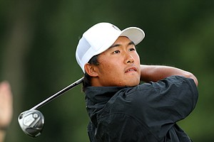 Gunn Yang during the finals at the 2014 U.S. Amateur at the Atlanta Athletic Club.