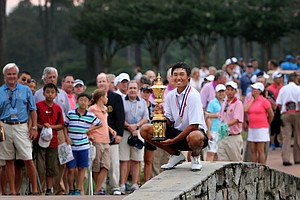 Gunn Yang, champion of the 2014 U.S. Amateur at the Atlanta Athletic Club.