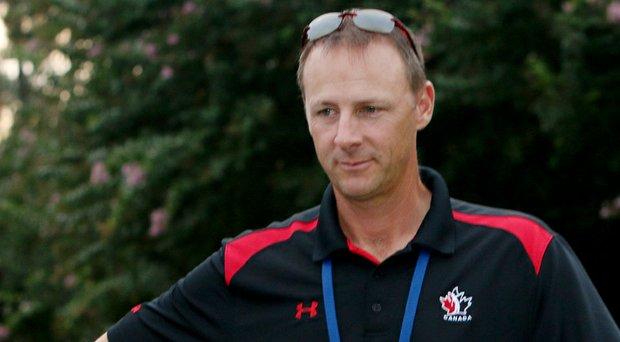 Team Canada head coach Derek Ingram during the championship match of the 2014 U.S. Amateur.