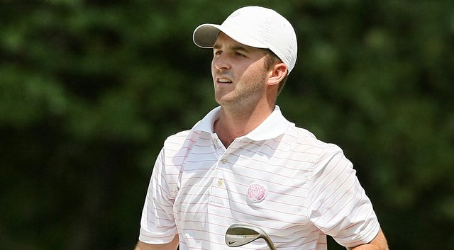 Denny McCarthy during the quarterfinals of the 2014 U.S. Amateur Championship at Atlanta Athletic Club.