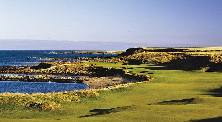 Kingsbarns Golf Links (pictured is its 12th hole) will host the 2017 Ricoh Women's British Open.