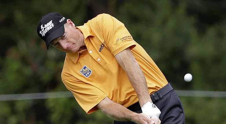 Jim Furyk during the third round of The Barclays at Ridgewood Country Club in Paramus, N.J.
