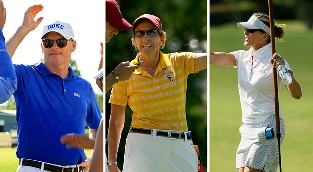 From left: Duke's Dan Brooks, USC's Andrea Gaston and UCLA's Carrie Forsyth will each lead highly ranked teams into the 2014-15 women's college golf season.