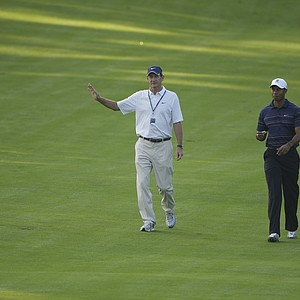 Hank Haney works with Tiger Woods at the 2005 U.S. Open at Pinehurst.