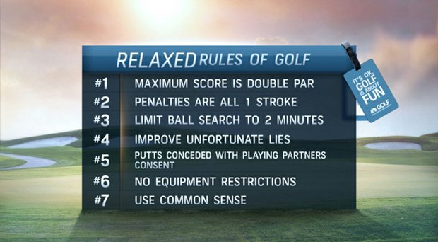 "Golf Channel is promoting ""Relaxed Rules"" initiative, aimed at making the game more enjoyable and faster."