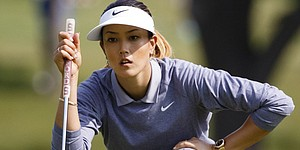 Michelle Wie receives AF1s from Nike Golf