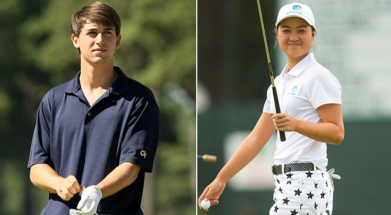 Ollie Schniederjans (left) and Minjee Lee win the 2014 Mark H. McCormack Medals as the top-ranked amateur in their respective divisions.